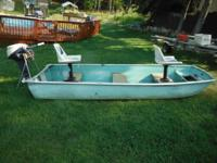 12ft DuraNautic Aluminum Flatbottom Boat with 2