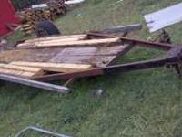 I have a 12ft trailer it needs wood but has good tires