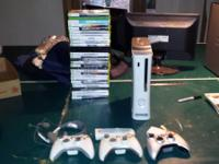 xbox 360 with 3 controllers a wireless adapter and