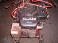Engine off Riding Mower. Runs no smoke, comes with