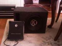 I have a 12in. memphis audio subwoofer for sale in a
