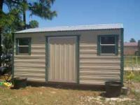 12 X 16 STORAGE BUILDING. THIS BUILDING HAS A FLOOR AND