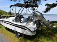 Please call owner Beverly at . Boat is in Kitty Hawk,