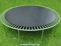 The jumping mat is to fit your 15ft-framed round