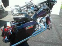 2005 flht , black cherry ,25000 miles . Big bore 95 kit