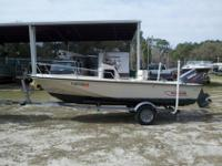 For sale is a Boston Whaler Outrage 17? in great