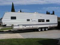 2002 Forest River sport fifth wheel toy hauler. This is