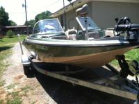 This is a 2005 Stratos 18.5' fish and ski with a 150hp