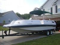 1996 25' Chaparral Sunesta 250 deck boat with dual axle