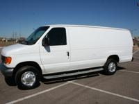 2007 FORD E250 EXTENDED CARGO VAN.8,600lb. GVWR. Solid
