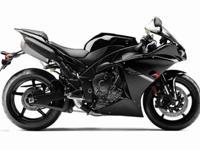 Brand New, glossy black, 2012 Yamaha R1 (998cc) with