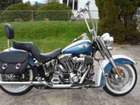 2005 Harley Soft tail deluxe with low miles (9,800).