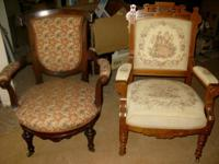 13 pieces of antique furnishings. The 'king chair' was