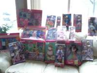 13 barbies in the box, plus ICE CREAM PARLOR, 3-sets of