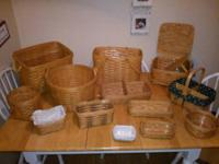 Group of 13 wood Longaberger Baskets. The posted price