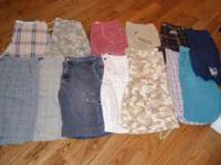 I have 13 pairs of men's shorts. The following listed