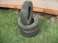 These tires were only used part of a season and are,