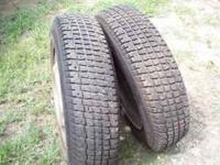 "1- Pr. P155/80R13"" Snow Tires Like New Mounted On 4 Lug"