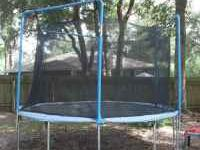 13' trampoline in excellent condition. Less than 1 yr