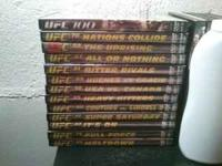 Lot includes 13 original UFC dvds. UFC