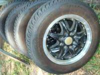 I have a very nice complete set of 13 inch black rims