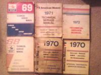 for sale amc service manuals years 1968-1972 asking 130