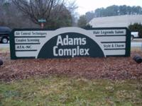 Space offered at the Adams Complex in Cary!  Huge, open