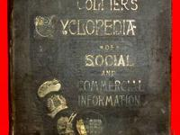 132 year old book * COLLIER'S CYCLOPEDIA of Social and