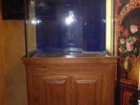 New135 Gallon Aquarium and stand. Aquarium is ocean