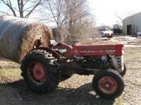 135 MASSEY FERGUSON DIESEL TRACTOR AND A 5ft BUSH HOG