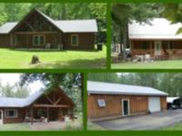 Custom Built Log Home + Nightly Rental Business or 2nd