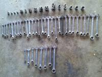 139 pieces of sockets and wrenches that are for sale.