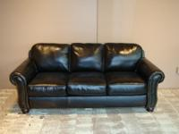 THIS IS A 100% GENUINE LEATHER SOFA & RECLINER
