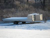13' Flatbed Aluminum Trailer, comes with a 5ft wide