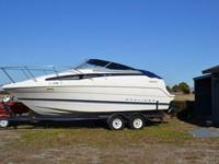 1996 23 ft Bayliner Cierra Cabin Cruiser with trailer