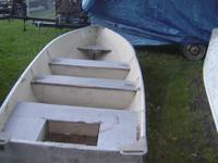 "14' Lund, 15"" transom, wide deep, camo, no trailer,"