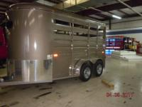 New 2011 Dakota ES 2-horse trailer, slant load, bumper