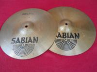 "20""/ 51cm Sabian B8 Hello there hat cymbals. Decent"