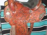 Nice Running P Barrel Saddle!! 14.5 seat size,