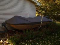 14 foot Tuffy  tri-hull fiberglass fishing boat is