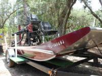 2007 12' Airboat with a Don Davis Full Deck Hull.