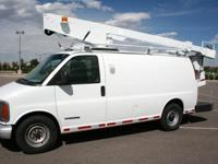 2000 GMC SAVANA G3500 BUCKET VAN.29ft. Terex T292