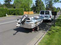 "Aluminum Fishing Boat/ 57"" wide/ 202 Nissan 9.9 hp 4"