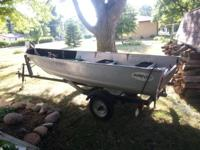 I have up for sale a 14' Aluma Craft boat, set up for