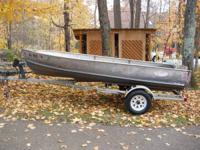 1965 AlumaCraft boat with new shallow and deep transom