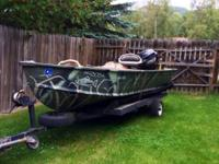 1987 14' Aluminum Fish slayer with a 9.9 Horse Coleman,