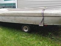 14' Aluminum fishing boat with trailer and Mercury 75