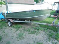 good condition 14' starcraft aluminum fishing boat with