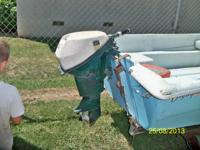 14' x 5' Olympic fiberglass boat w/Little Dude Trailer