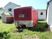 I am offering a 14' Box Trailer. Red. Good Condition.